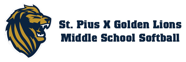 St. Pius X Golden Lions Middle School Softball